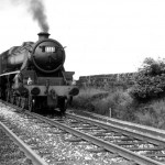 LMS Class 5 4-6-0 No. 45110 (observed at 5C) seen at Rainhill on 11th August 1968.  Photograph by Peter Hands.